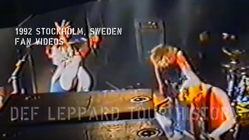 Def Leppard 1992 Fan Videos.