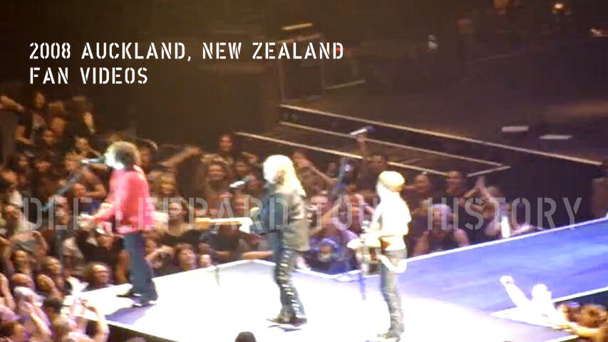 Def Leppard 2008 Auckland Fan Videos.