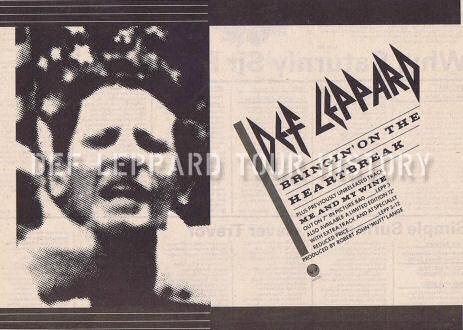 Def Leppard News - 36 Years Ago DEF LEPPARD Release Bringin