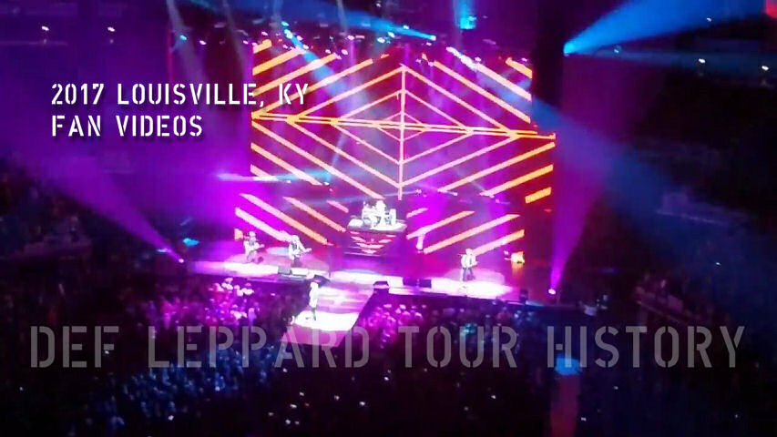 Def Leppard 2017 Louisville, KY Fan Videos.
